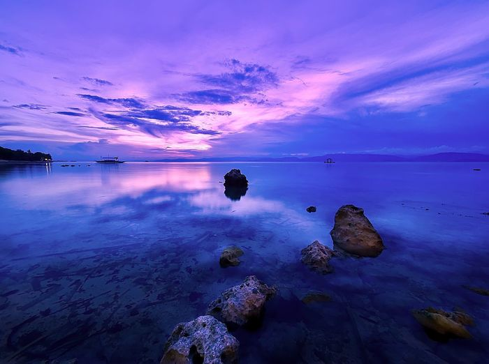 Moalboal Cebu, Philippines. chasing the sunset peak. Water Sea Sky Nature Beauty In Nature Scenics Rock - Object Tranquil Scene Sunset No People Tranquility Beach Outdoors Cloud - Sky Horizon Over Water Day Cebu Philippines Tourism Moalboal