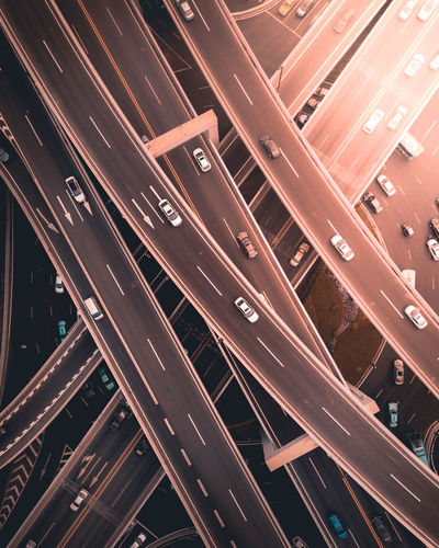 Calm in chaos. Drone  Aerial View Topdown High Resolution Dronephotography Top Down View Guangzhou Dji Cityscape DJI Mavic Pro City Business Aerial View Road Industry Business Finance And Industry Red City Life High Angle View Street Overpass Traffic Jam Road Intersection Elevated Road Rush Hour Highway Traffic