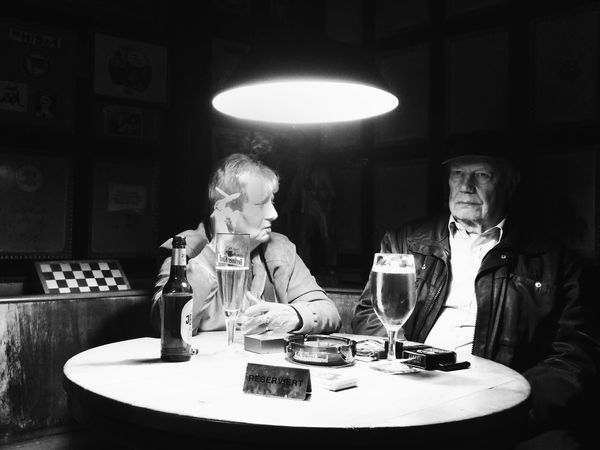 Table Wineglass Indoors  Sitting Wine Two People Portrait Adults Only Adult Drink Drinking Glass People Only Men Day Elderly Couple Streetphotography Candid Photography Streetphoto_bw Charlottenburg  Berliner Ansichten KNEIPE Bar Dive Bar Beer Pub Discover Berlin