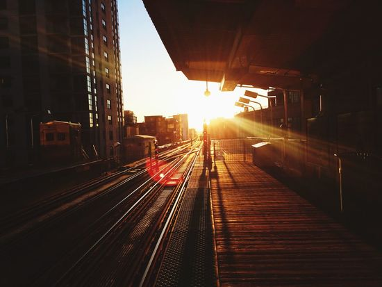 🚋 Sun Railway Taking Photos Light Enjoying Life Beauty Exploring New Ground Traveling