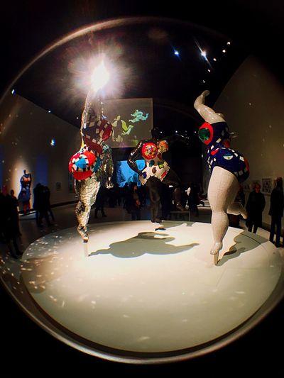 IPhoneography Niki De Saint Phalle Nana Fisheye Paris Light And Shadow