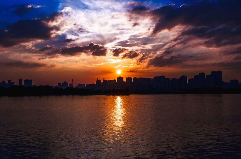 Sunset Over Changsha Skyline
