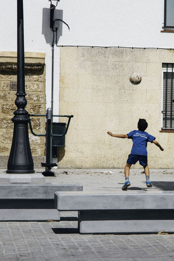 Child Football Kid People And Places Playing SPAIN Street