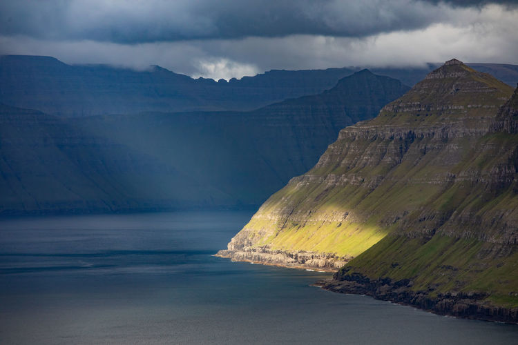 Coastline Scandinavia Tadaa Community Beauty In Nature Cloud - Sky Day Environment Faroe Islands Formation Idyllic Land Mountain Mountain Range Nature No People Non-urban Scene Outdoors Rock Scenics - Nature Sea Sky Tranquil Scene Tranquility Water Waterfront