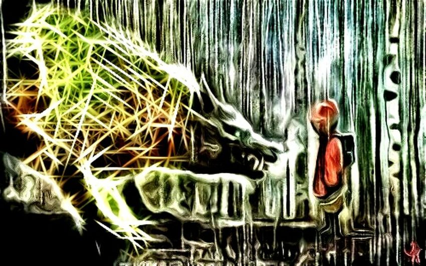 Fear only makes the wolf look bigger~Notes From The Underground Throughmyeyes Mask Myview Dream PhotoNemes Visual Poetry BigBadWolf Darkart Fairytales & Dreams Highlife