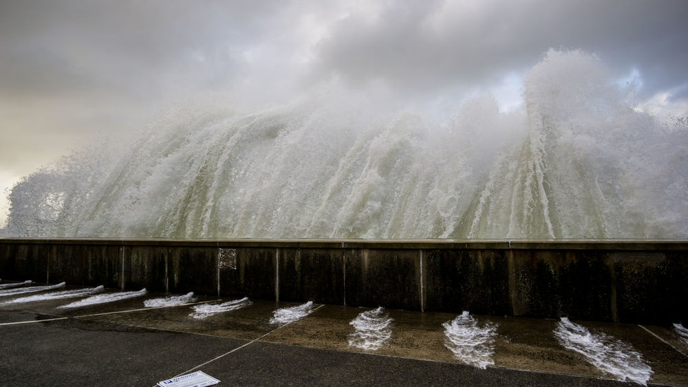 Hurricane Ophelia slams into the sea wall Storm Beauty In Nature Breaking Cloud - Sky Hurricane Ophelia Motion Nature No People Outdoors Power In Nature Sky Splashing Storm Storm Surge Surf Tide Water Wave Waves