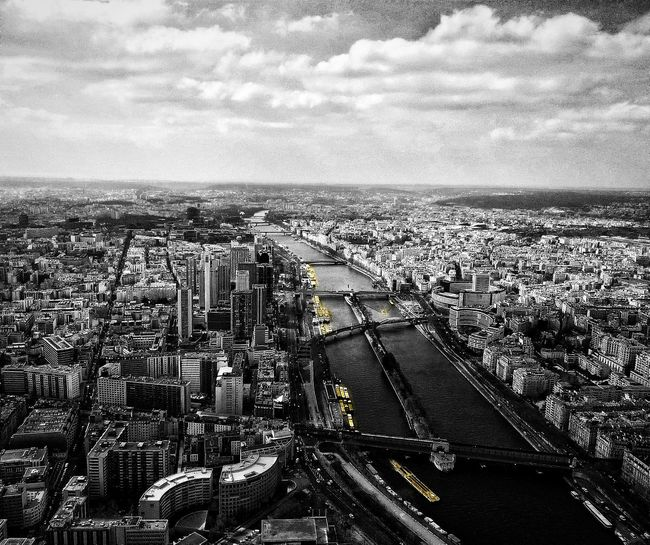 Paris view from the Eiffel Tower Taking Photos Amateur Photography Scaredofheights Urban Landscape