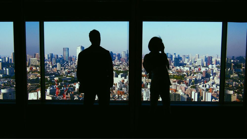 Tokyo Street Photography Tokyo,Japan Man And Woman cityscapes No Standard World Window Silhouette Architecture City Built Structure Glass - Material EyeEmNewHere