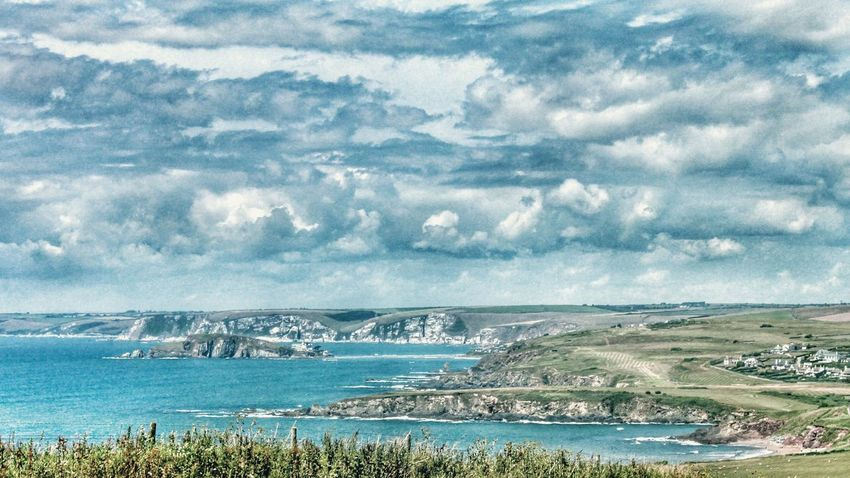 Burgh Island Devon View from Hope Cove Coastline Sea Sea And Sky Ocean Ocean View Clouds And Sky Clouds Showcase: January Landscapes With WhiteWall Landscape Landscape_Collection The Great Outdoors With Adobe The Great Outdoors - 2016 EyeEm Awards Miles Away
