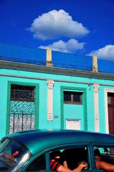 Cuba Collection Outdoors City Blue Matanzas Life In Colors Old Car Rolling Stones Street Streetphotography Travel Destinations Building Exterior Travel Photography Travel Pictures Life In Cuba The Street Photographer - 2017 EyeEm Awards