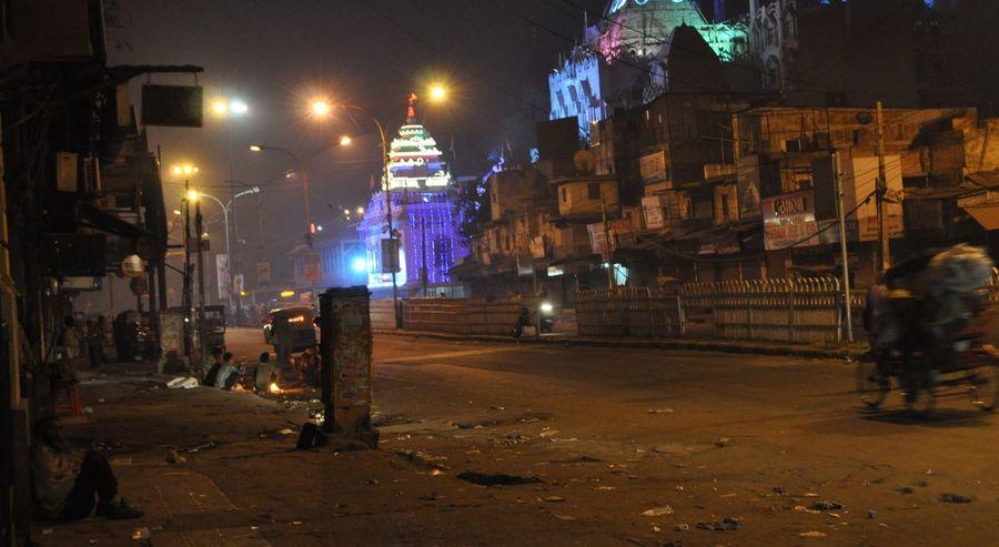 India Dehli Night Real People