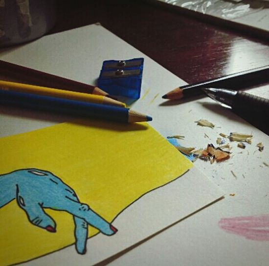 Indoors  No People Close-up Modern Drawing Drawingoftheday Draw Drawingart Art ArtPop Bright Bright Colors Neondrawing ColoredPencils Coloredpencil Coloredpencilshavings Coloredpencilartist Sharpener Sharpeners And Pencils Paper Carstock Cardstock Cardstockpaper Hand