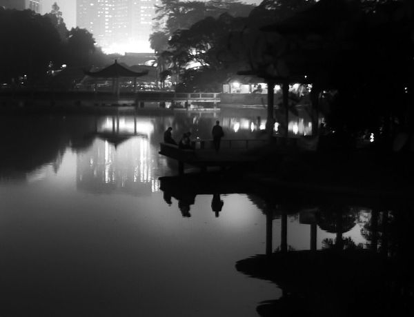 Glow in the Dark Lowexposure Lowlightphotography Lowlight Pitchdark Nightphotography Pavilion Gazebo Gazebo At The Park TianhePark Guangzhou China Taking Photos Silhouette Blackandwhite Photography Blackandwhite