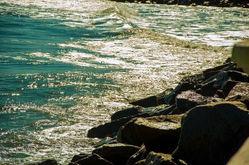 Beach Santos - Brasil Brazil Water Nature Sea Beauty In Nature Nature Natureza Outdoors EyeEmNewHere Lets Go. Together. Rock - Object Sunlight Wave Close-up Viagem Trip Summertime Summer Beauty Clear Ocean Ocean Ocean View Clear Water