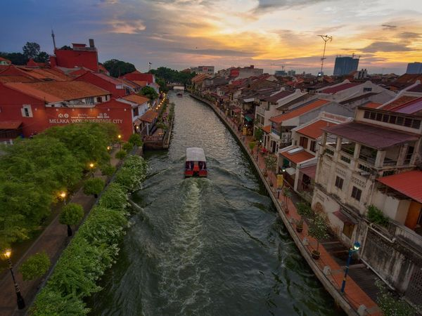 High Angle View Sunset Water Sky Day City Outdoors Architecture No People Riverside Sunset Malacca,malaysia Malaysia Truly Asia River Cruise Boat Malacca River Portuguese Culture The Great Outdoors - 2017 EyeEm Awards