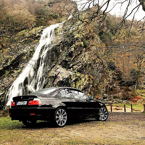 Car Land Vehicle Transportation Tree Day Mode Of Transport Stationary Outdoors No People Nature EyeEmNewHere Photographer The Great Outdoors - 2017 EyeEm Awards Waterfall Beautiful Scenery Followme TBT  Bmw 3series Photo Powerscourt Wicklow Mountains