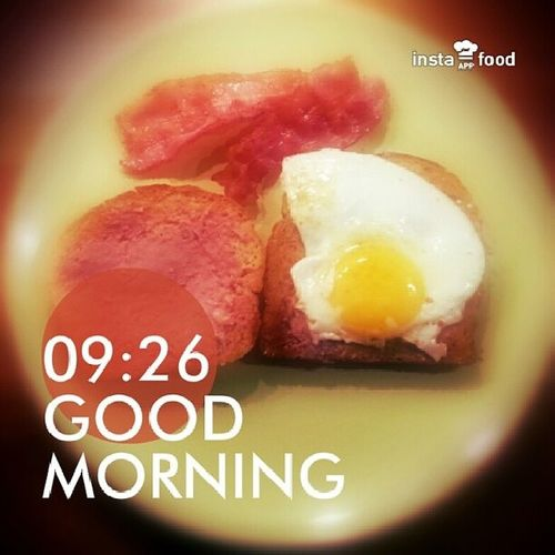 Mie sick breakfast ? I am not happy about the fact that I am home sick though proud to show that I am amazingly bless with energy recovery food ? Good_morning Magandang_Umaga God_Morgon  おはよう Breakfast Agahan Frukost あさごはん Whole_wheat Bread Bacon Egg Sunny_Side_Up instafoodapp instafood food @instafoodapp foodporn foodgasm foodie tasty yummy eat hungry love Södertälje Sweden