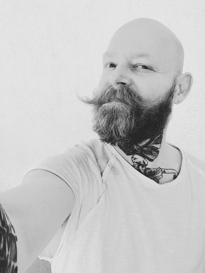 Real People Beard Lifestyles Day Portrait Close-up Indoors  One Person Gay Gaymodel Gayman Scruffy Igers Igersvienna Igeraustria The Portraitist - 2017 EyeEm Awards