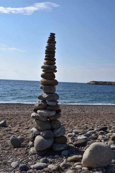 Cyprus Steine Und Meer Steinpyramiden Balance Beach Beauty In Nature Close-up Horizon Over Water Larabeach Nature No People Outdoors Pebble Pebble Beach Rock - Object Scenics Sea Sky Stack Steine Stone - Object Tranquil Scene Tranquility Water Zypern