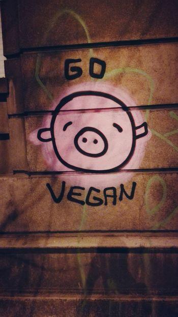 Vegan Street Art Tagging Belgrade Pig Huawei Honor Pigs Serbia Lifestyle