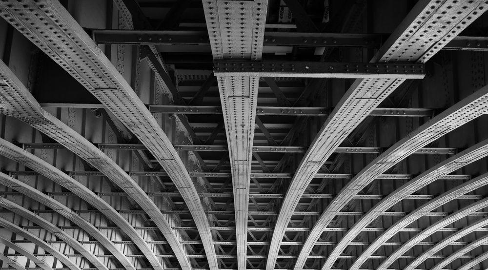 Rivets Architecture Black And White Blackfriars Blackfriars Bridge Bridge Converging Lines Girder London Low Angle View Metal Rivets Underneath The Architect - 2017 EyeEm Awards