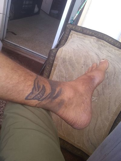 Vinny the shark Ankle Tatoo Low Section Men Sitting Human Leg barefoot High Angle View Human Foot Water Limb Close-up First Eyeem Photo