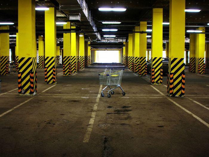 After the New Year night. Empty Empty Places Parking Cart Shopping Mall Minimalism Minimal City Urban Streetphotography