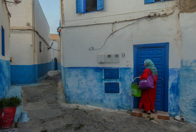 Kasbah Des Oudaya MORO Rabat Travel Travel Photography Africa Architecture Blue City Blue City Moroccan Culture Building Building Exterior Built Structure Day Marocco 2016 Travel Destinations Window