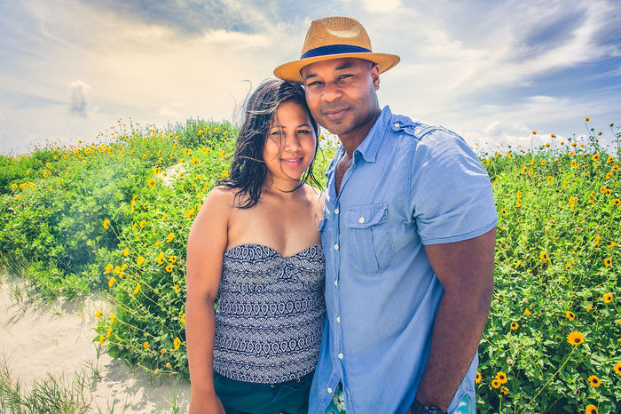 Love Diversity Beauty In Nature Bonding Casual Clothing Couple - Relationship Day Growth Happiness Leisure Activity Lifestyles Love Nature Outdoors People Plant Sky Smiling Standing Togetherness Two People Young Adult Young Men Young Women