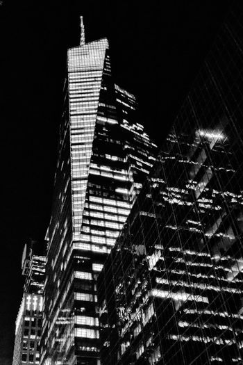 Welcome To Black Architecture Building Exterior Built Structure Night City Illuminated Low Angle View Skyscraper No People Sky Outdoors Travel Destinations Business Finance And Industry Modern Futuristic Urban Skyline Black & White Monochrome Photography Monochrome Urban Landscape Streetphotography Bryant Park NYC
