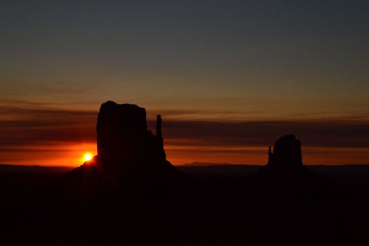 Monument Valley Sunrise Sky Nature Landscape Beauty In Nature No People Outdoors Day Utah America