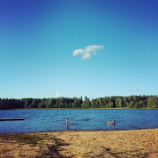 Vaidava Lake Swimming Relaxing Water Summer2015 Cloud Clouds And Sky Landscape_photography