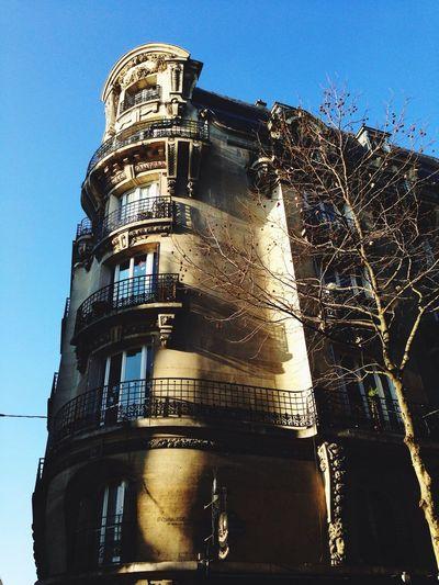 Ciel bleu sur Paris