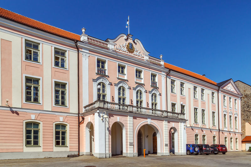Exterior of building against clear sky