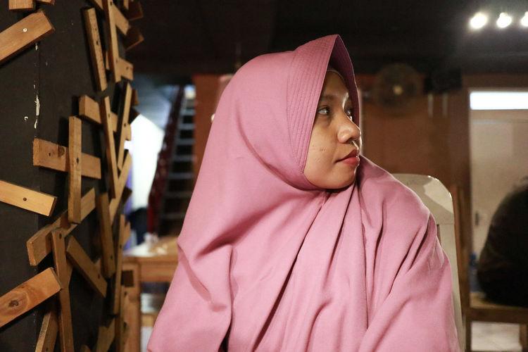 Young Woman Wearing Hijab Looking Away