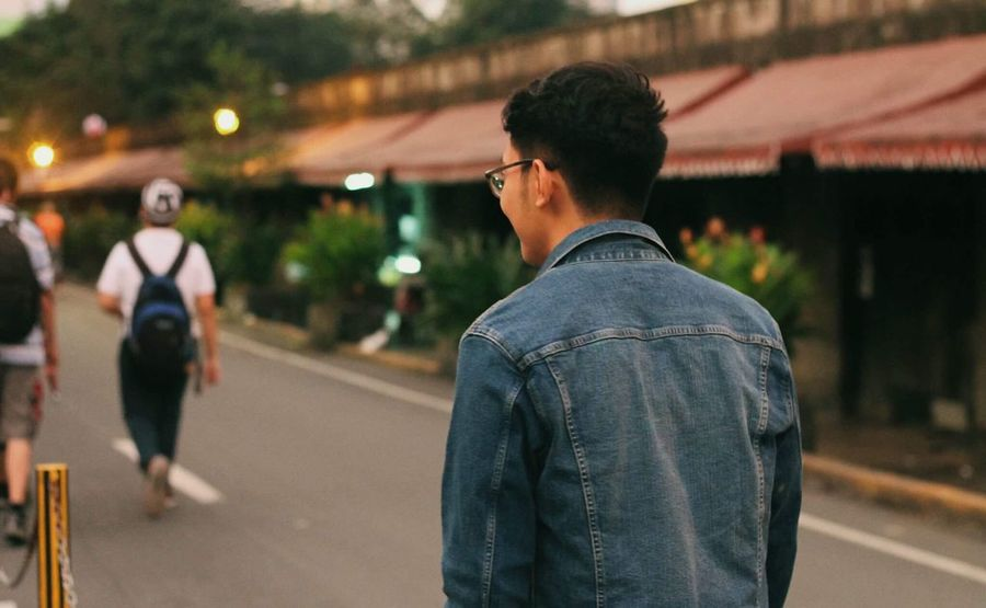 EyeEm Selects Real People Rear View Focus On Foreground Walking Two People Street Men Outdoors Night Lifestyles Togetherness Women Illuminated Young Adult Adult People Eyeem Philippines Philippines Check This Out This Is Masculinity