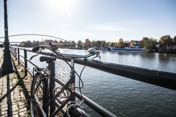 beautiful day in Maastricht Bike Bridge City Life Day Eye4photography  EyeEm Gallery Maastricht Outdoors Perspective River Riverside Ship Sky Streetphotography Sunny Sunny Day Urban Exploration Urban Life Urban Lifestyle Urban Skyline Urbanphotography Water