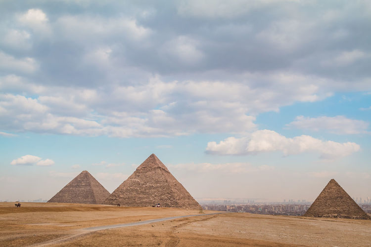 Sky Nature Outdoors Egypt Pyramids Giza Giza Pyramids Of Egypt Travel Destinations Trip Ancient Cairo Egypt Desert Tourism Egyptian Archaeology Architecture Historical Hot Heat - Temperature Summer Tomb Pyramid History The Past Its About The Journey
