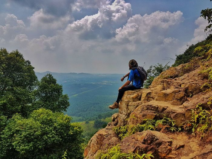One Person Sitting People Cloud - Sky Only Men Adult One Man Only Men Day Nature Sky Adventure Beauty In Nature Freshness My Best Photo 17.62°