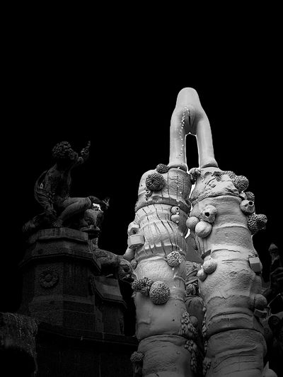 Low angle view of statue of statues