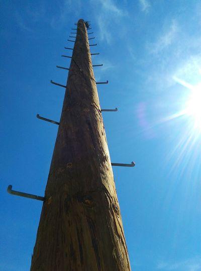 Climbingup Upwards Sky Poles Desert