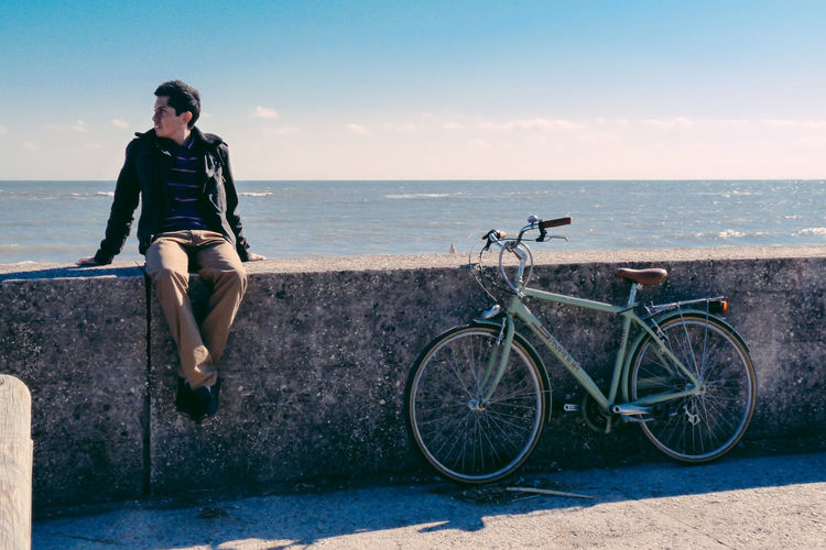 Travelling around Lido di Venezia Adriatic Sea Beauty In Nature Bike Blue Wave Day Horizon Over Water Italy Landscape Lido Di Venezia Man Nature Ocean Outdoors Scenics Sea Sky Tranquil Scene Tranquility Travel Traveller View Wanderlust Water This Is Masculinity