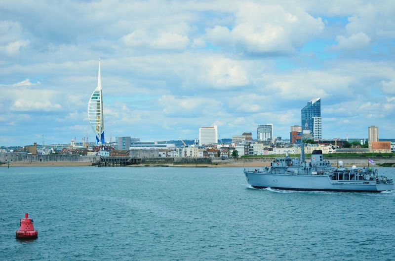City Cityscape Urban Skyline Nautical Vessel Water Skyscraper Sea Harbor Sailing Ship Modern