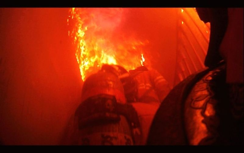You have to be a little bit crazy to do this job. I cant think of anything else I would rather do. Firefighters In Action Firefighter Helmet Cam Interior Attack Get Some Flame Heat - Temperature Burning Men Close-up Fire - Natural Phenomenon