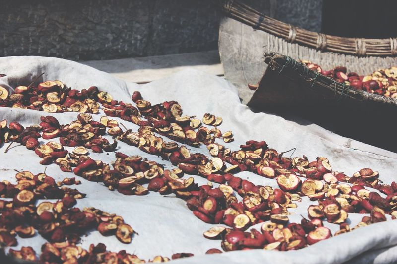 View of drying apples