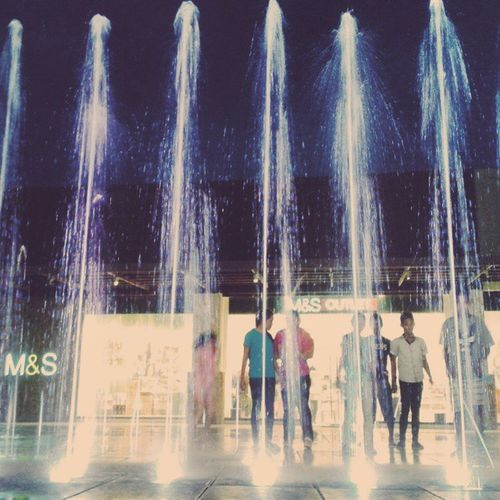 Haha. These couple of students are getting wet. Chasing those splashing of waters. Haha. Wipeout. Vscofountainlights Vscocam