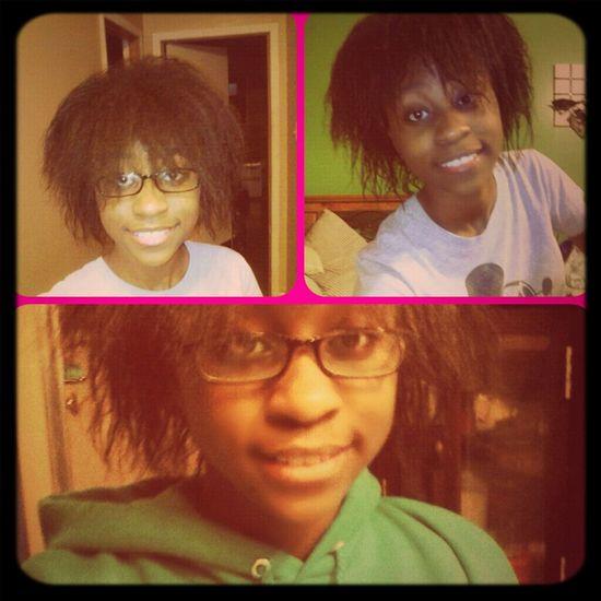 last night... my hair=a hott mess Lol... it was cuteish tho Hair LOL Cute
