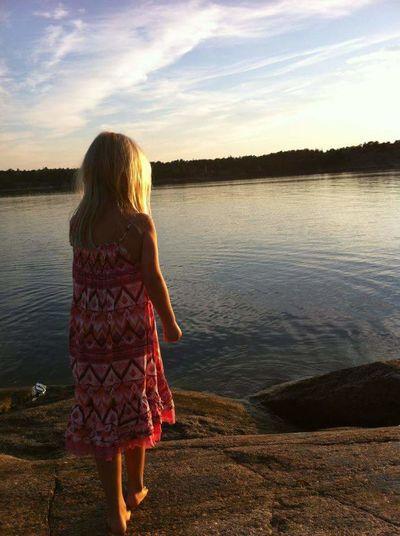 Summernight In Sweden Summergirl  By The Sea