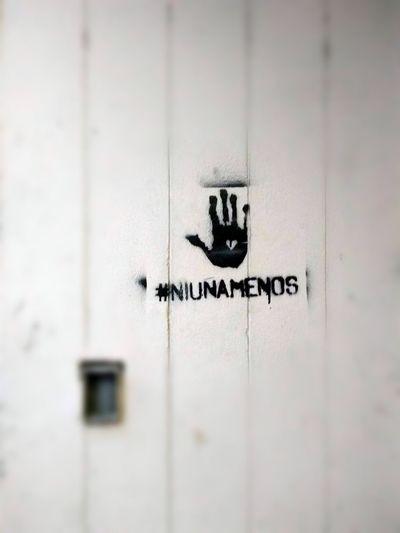 #NiUnaMenos Communication Text Full Frame Close-up