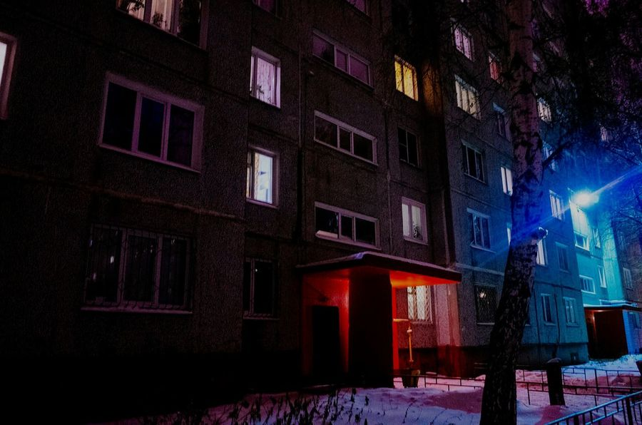 Building Exterior Winter Illuminated Night Architecture Built Structure Snow City Cold Temperature Outdoors Tree Christmas No People Snowing Midnight EyeEmNewHere